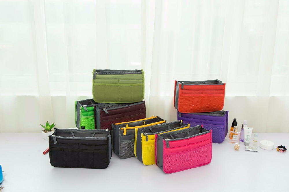 multiple color cosmetic bag