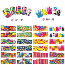 12pcs/lot Colorful Decal Nail Art Water Transfer Sticker Full Wrap Butterfly/Fish Nail Decorations Easy Use JIBN109-120
