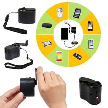 Universal Outdoor Travelling Portable Emergency Hand Power Dynamo Hand Crank USB Charging Charger for All Mobile Phones
