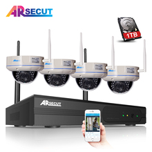 4CH CCTV System Wireless NVR Kit 960P 1.3MP HD Outdoor IR Night Vision H.264 Security IP Camera WIFI Surveillance System 1TB HDD
