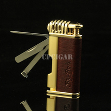 Multifunctional Single Tobacco Torch Lighter with Smoking Pipe Cigar Lighter with Pipe Knife Matchstick(China)