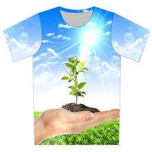 Joyonly Children Sunny Blue Sky Plant Weed Hand Fruit Food Design T-shirt  Boys Girls 2018 Summer Cool Printing T shirt Tops Tees b61f0a2a5ba5