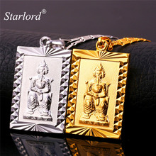 Blessing Pendant Necklace Chinese Taoist Figure Xuanwu Emperor Gold/Silver Color Lucky Amulet Charms Taoism Jewelry P1405(China)