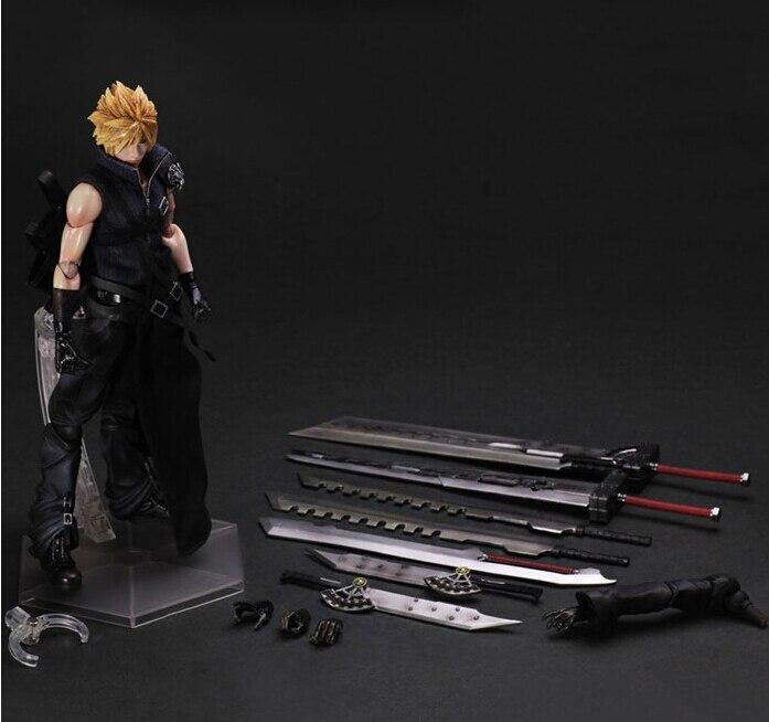 Final Fantasy Action Figure Play Arts Kai Cloud Strife Anime Collection Model Toys 270MM Final Fantasy Playarts<br>
