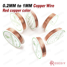 Free Shipping Wholesale a coil 0.3mm 0.4mm 0.5mm 0.6mm 0.8mm 1mm Original Copper Wire Diy Jewelry Findings Accessories(JM6202)(China)