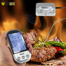 Household BBQ Thermometers Wireless Digital Oven And Grill Meat Cooking Remote Kitchen Thermometer And Timer With Long Probe(China)