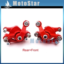 Pocket Bike Left + Right Red Disc Brake Calipers For 2 Stroke 47cc 49cc Chinese Mini Dirt Kids ATV Quad Goped Scooter Go Kart