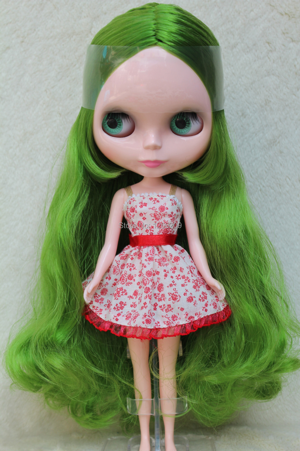 Green Hair Blythedoll Nude Dolls Neo Doll,Blyth Suitable For DIY Change Toy For Girls Gift And Holiday Gifts(S00200)(China (Mainland))