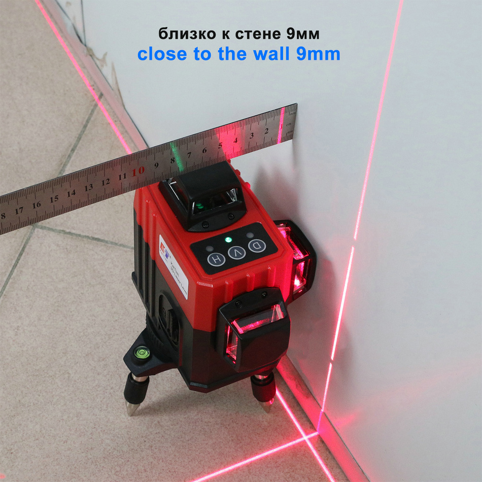 Kaitian Laser Level MR3D5M close wall 2