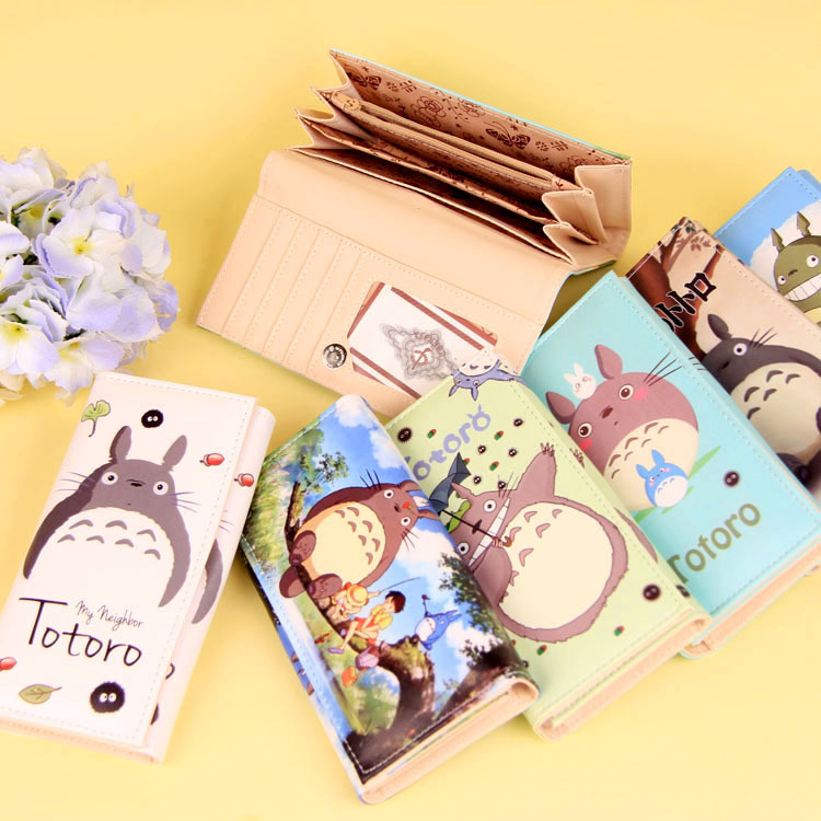 Cartoon My Neighbor Totoro Women Wallets PU Leather Students Wallet Cards Holder Women's Clutch Hasp Coin Purse Money Bags 1