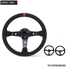 Tanksy -Modified steering wheel Suede leather steering wheel automobile race steering wheel  TK-FXP02OM