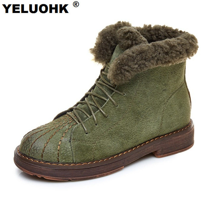 New Winter Boots Women Shoes With Fur Warm Snow Boots Women Casual Shoes Woman Winter Platform Flat Boots For Women<br>