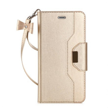 2017 NEW For iPhone 6 S 4.7 inch Phone Wallet Case Cover bag Multi-function Anti-drop Russia girl cute rose gold leather case(China)