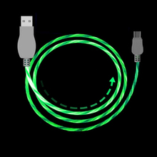 USB Cable Type C 8 PIN LED Glow Charging Cable Data Sync Mobile Phone Cables USB Charging Line Cord