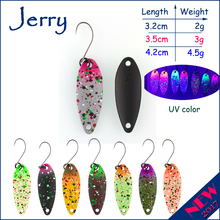 Jerry 1pc 2g 3g 4.5g trout fishing spoons metal lures spinner bait fishing lures pesca Japanese lures matt colors(China)