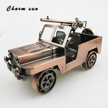 Classic home decoration retro handmade off-road vehicle modeling simulation car collection metal car model children's toys(China)