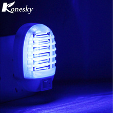 Konesky Electric Mosquito Killer Lamp Night Lights EU Plug Chemical-Free Mini Blue Light for Children Bedroom Living Room Home(China)