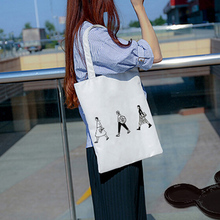 1PCS Best Selling Fashion Women Love Printing Canvas Bags Handbag Shoulder Shopping Travel Tote High Quality(China)