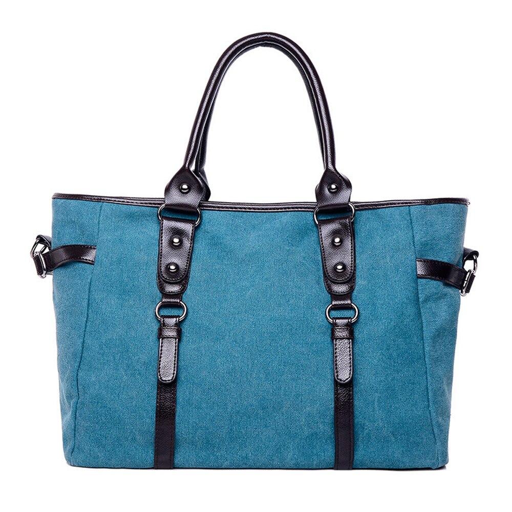 Women Stylish Leisure Shopping Canvas Handbag Large Capacity Travel Shoulder Bags High Quality Bags<br>