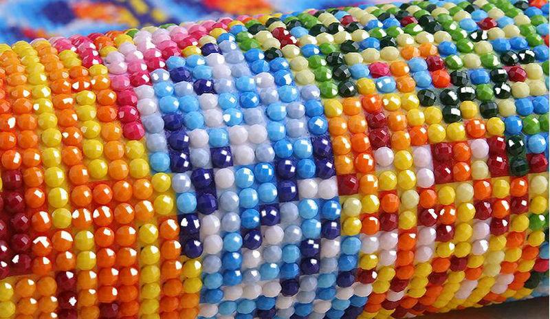 Алмазная вышивка как делать круглые