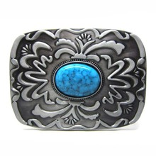 Fashion Design Western Cowboy Stones Belt Buckle With Stones For Mens Women Fashion Accessoreies Suitable For 4cm Width Belt