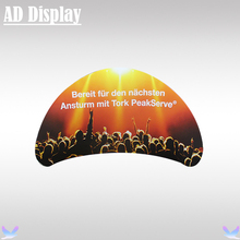 Exhibition Booth Portable Semi-Circle Display Advertising Banner Stand With Double Side Full Color Printing