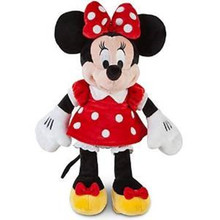 Original Minnie Mouse Plush Toy Red Stuffed Animals 19'' 48cm Peluche Minnie Pelucia Mickey Girls Toys for Children Kids Gifts