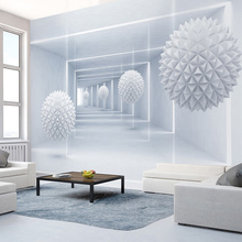 Custom Photo Wall Paper 3D Stereo Abstract Space Sphere Mural Wallpaper Living Room Bedroom Background Walls Papel De Parede 3D(China)