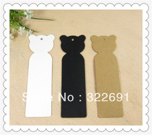 Wholesale 350GSM cheap cartoon craft paper garment tags in stock, 2-colours DIY bookmarks /gift tags(China)