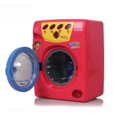 Newest 4 Style High Simulation Pretend Play Kids Funny Toy Motor Powered Washing Machine with Sound Interesting Washer