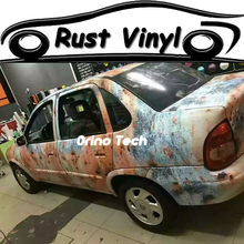 Rust Wrap Vinyl Film Sticker Vehicle Boat Rusty Camouflage Wrapping Film Sticker Air Release Matte/Glossy Finish
