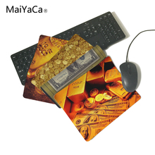 MaiYaCa Unique Design Paper Money. Coins, Gold Bars Computer Mouse Pad Mousepads Rubber Pad Not Overlock Mouse Pad