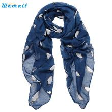 Amazin 2016 New Penguin Pattern Women's Shawls and Scarves Female Voile Scarf