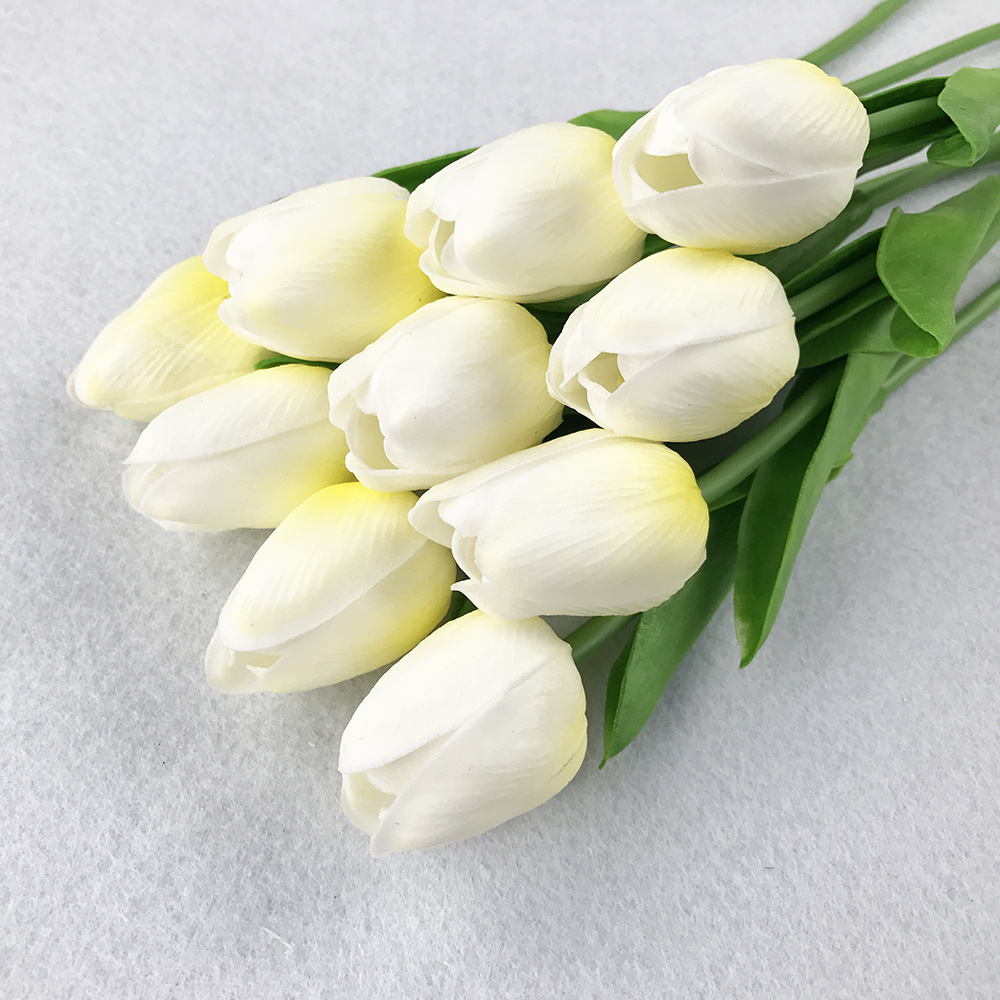 10PcsBag PU Holland Mini Tulip Artificial Flower Real Touch Tulip for Wedding,Home,Hotel,Party Decoration Valentine's Day Gift (22)