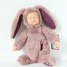 45cm Reborn Simulation Baby Doll Toys Sleeping Placate Bunny Rabbit Bear Doll plush Toy Soft Baby Kids Full Silicone Child Gifts(China)