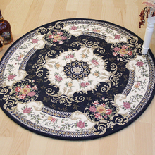 Round Carpets for Living Room Floor Bedroom Jacquard Carpet Doormat Countryside Table Computer Chair Area Rugs(China)