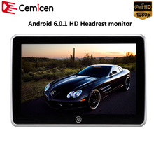 Cemicen 10.1 Inch Android 6.0 Car Headrest Monitor 1080P Touch Screen Support WIFI USB SD HDMI FM Bluetooth Multimedia Player(China)