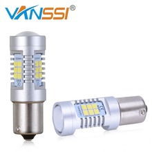 VANSSI 2x P21W LED BA15S 1156 7506 S25 21SMD LED Backup Reverse Turn Signal Brake Stop DRL Light Bulb White RED Amber(China)