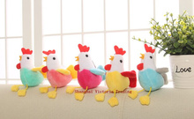 1Piece Random Color , Kawaii 11CM Chicken Plush Stuffed Chicken Toy , Sucker Keychain Pendant DOLL TOY ; Gift Plush DOLL TOY(China)