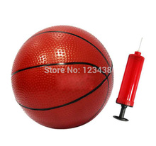 Inflatable Toddler Baby Toys Small rubber Basketball with Pump for Children(China)