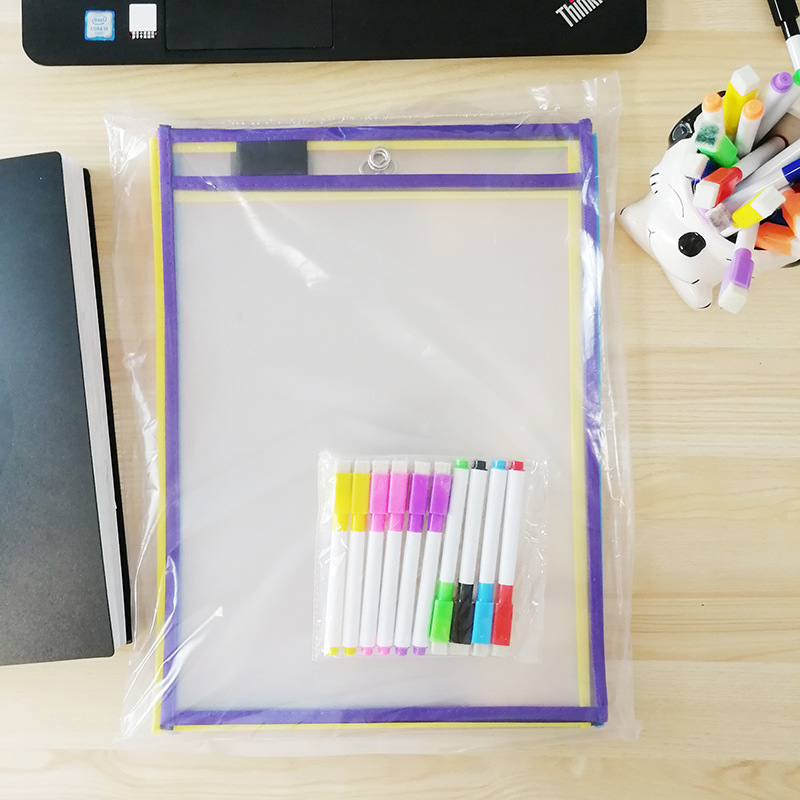 puzzle toy reused PVC transparent dry brush bag write wipe drawing adult toON