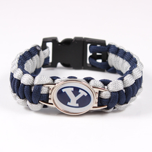 Yale Bulldogs Custom Paracord Bracelet NCAA Football Bracelet Survival Bracelet ,Drop Shipping 19 Color Can Choose