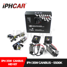 Free Shipping IPHCAR Hid Xenon Bulb Kit 35W HID Light Kit Canbus Slim Ballast for Automobile Motorcycle