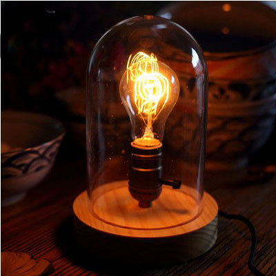 Vintage style glass lampshade table lamp rubber wood desk lights booklight solid wood edison desk lamp<br><br>Aliexpress