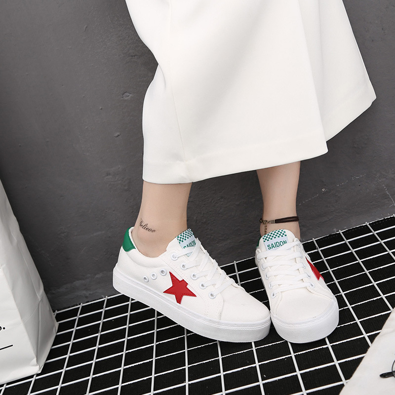 Casual women shoes zapatos mujer printed casual women fashion casual five-pointed star shoes women canvas shoes woman fashion <br><br>Aliexpress