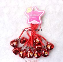 Free Delivery 50 pcs new boy girl favourite unique red Chicks must girl Metal Figure Style cell phone charms Straps small bell