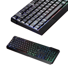 PC Laptop Notebook Desktop Typing Keyboards 104 Keyboard USB Wired LED Colorful Backlight Illuminated Keyboards
