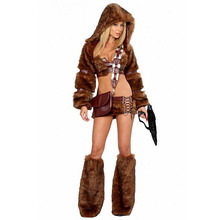 Women's Deluxe Sci-Fi Sexy Animal Furry Costume For Halloween Costume(China)