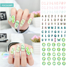 Rocooart KB139 New Arrival DIY Nail Art Stickers Tips Decoration Nails Wraps Beauty Makeup Magic Numbers Water Transfer Stickers