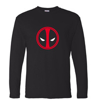 brand clothing anime Deadpool men's long sleeve t shirt 2017 new spring 100% cotton high quality hip hop Dead Pool men tshirt